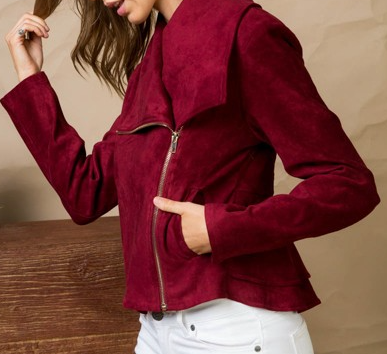 Your Secret Is Safe With Me Jacket - Burgandy