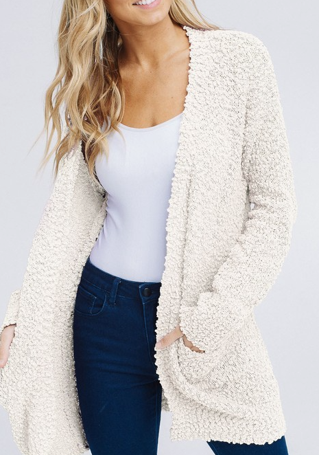Dreaming Of You Cardigan - Cream - Bates Boutique
