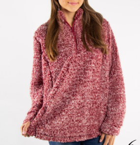 Chic N Soft Sherpa - Burgundy - Bates Boutique