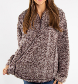 Chic N Soft Sherpa - Dark Brown - Bates Boutique