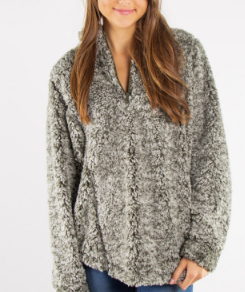 Chic N Soft Sherpa - Green - Bates Boutique