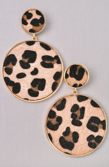 Lily Leopard Earrings