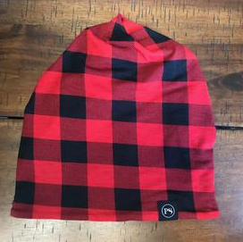 Buffalo Check Peek-A-Boo Beanie - Bates Boutique