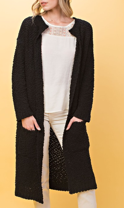The Power Of Love Cardigan - Black