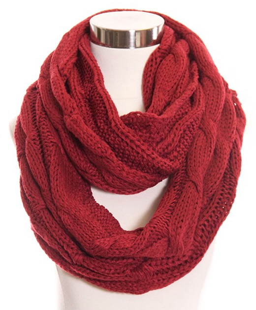 CC Knitted Infinity Scarf - Bates Boutique