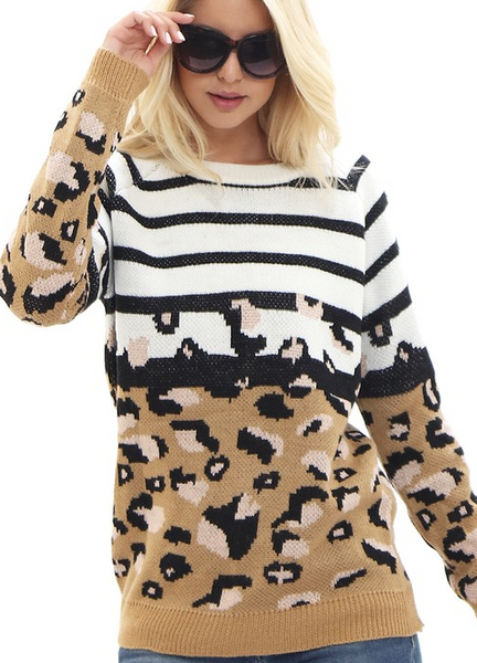 Best Of Both Worlds Sweater - Bates Boutique