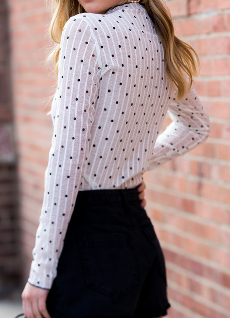 Precious In Polka Dot Top