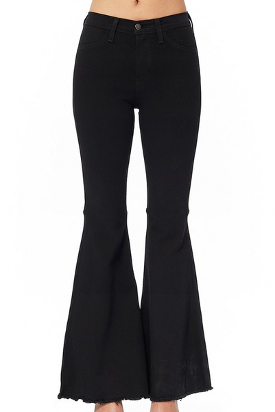 Basically Black Flared Jeans - Bates Boutique
