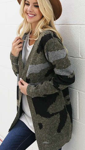 Blend In The Crowd Cardigan - Bates Boutique