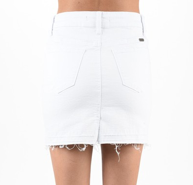 Willow White Denim Skirt