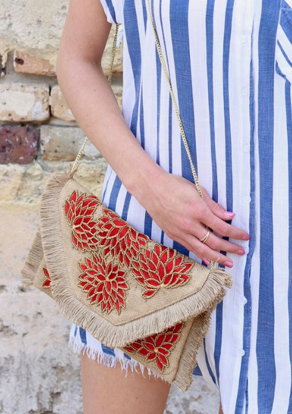 Santorini Beaded Bag