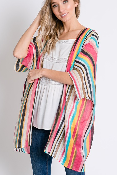 Color Wheel Kimono - Bates Boutique