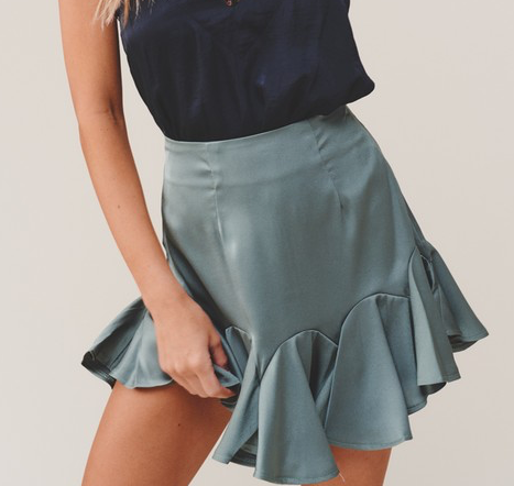 Give Me A Twirl Skirt - Olive