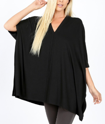 Go With The Flow Top - Black