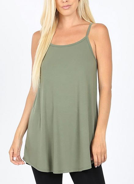 Love All Around Tank - Light Olive