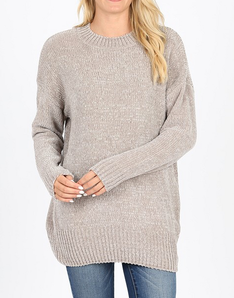 Quality Time Sweater - Light Grey