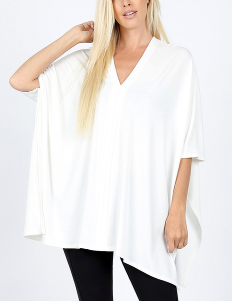 Go With The Flow Top - Ivory
