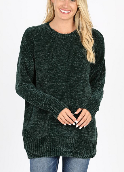 Quality Time Sweater - Hunter Green