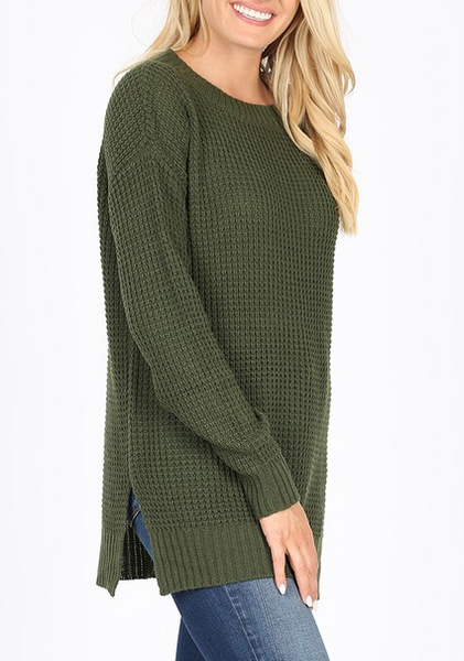 Easy Living Sweater - Army Green