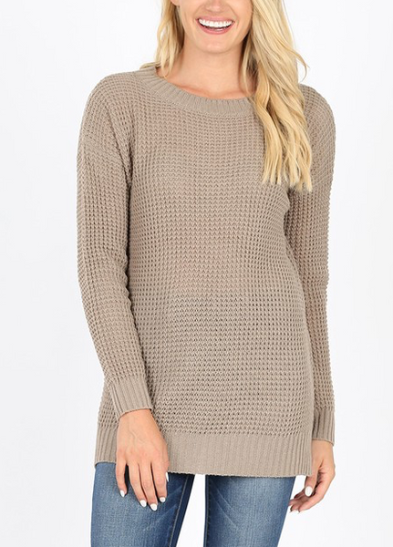 Easy Living Sweater - Ash Mocha