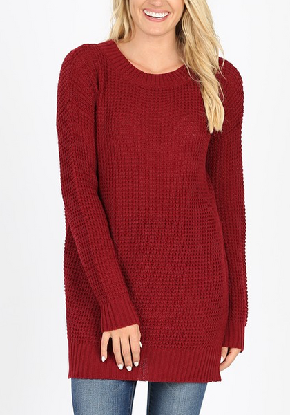 Easy Living Sweater - Cabernet