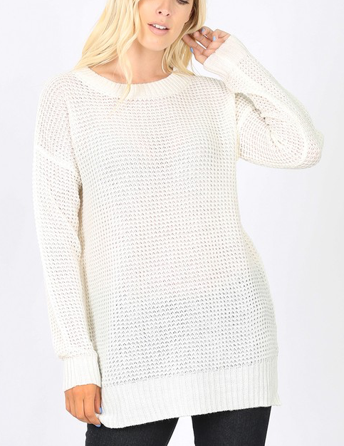 Easy Living Sweater - Ivory