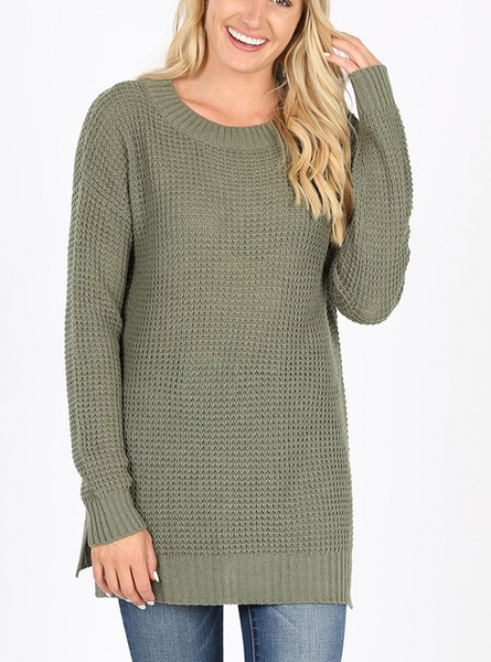Easy Living Sweater - Light Olive