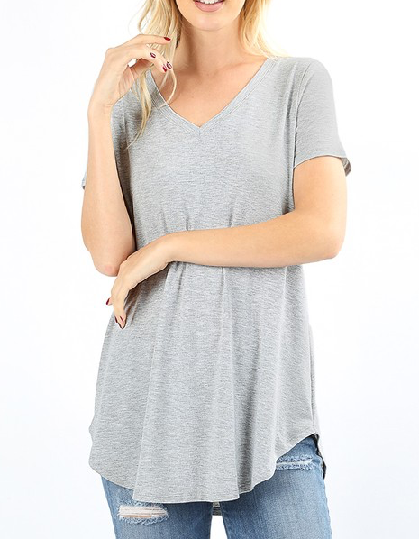 Piece Of Art Top - Heather Grey