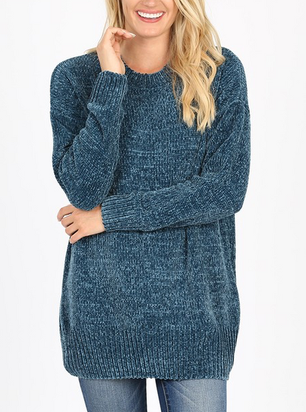 Quality Time Sweater - Teal