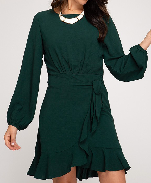 Be My Guest Dress - Green - Bates Boutique