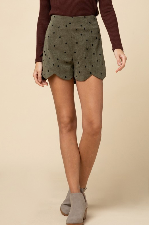 Circle Back Around Shorts - Olive