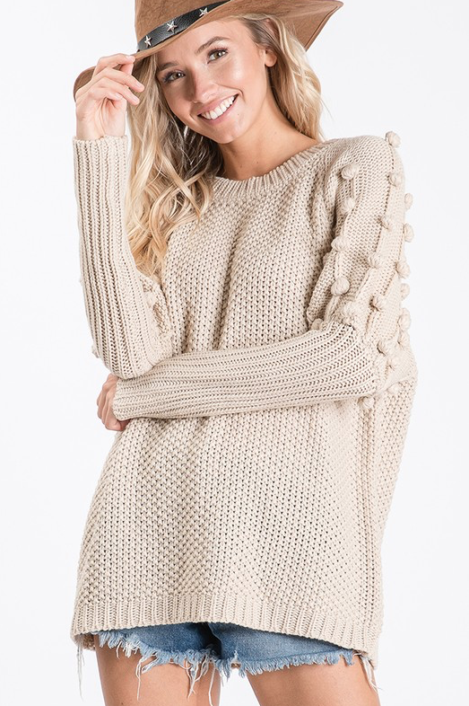 Model For Me Sweater - Oatmeal