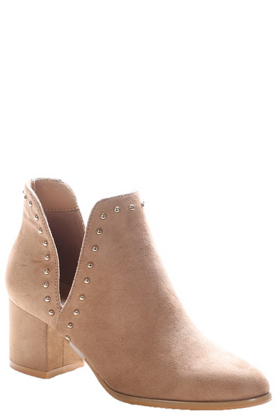 Rock It Out Booties - Camel