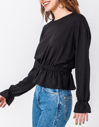 Flatter For You Top - Black