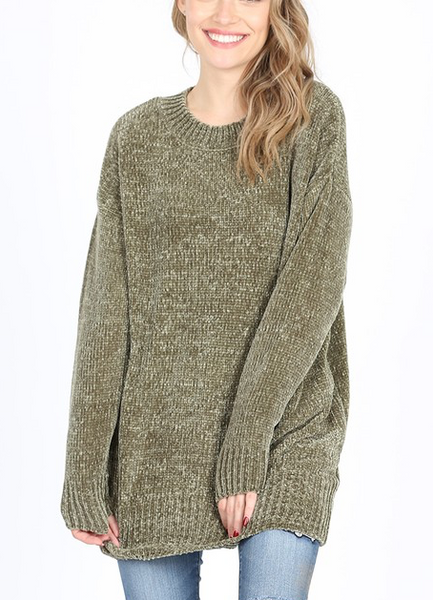 Quality Time Sweater - Olive