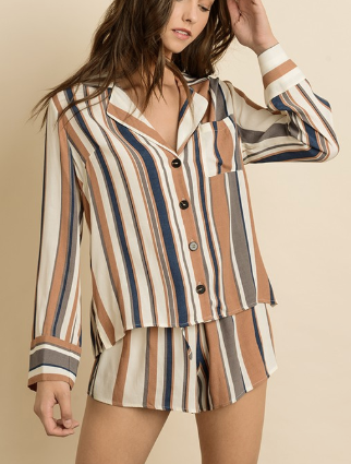 Endless Stripes PJ Set