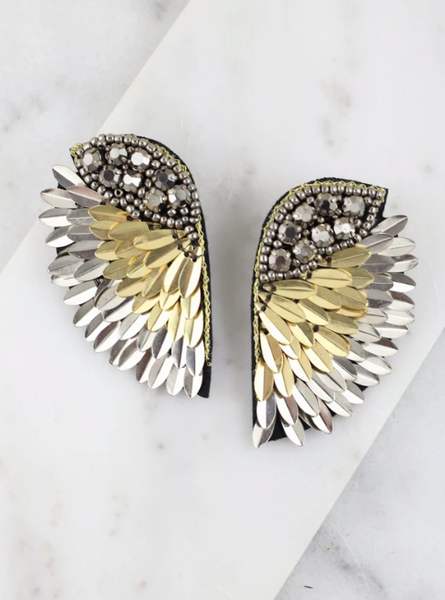 Fly Away Earrings - Silver