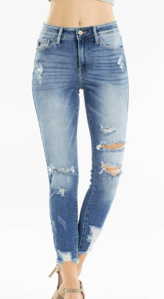 Missy Distressed Ankle Jeans