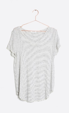 Everyday Short Sleeve Top - White/Black