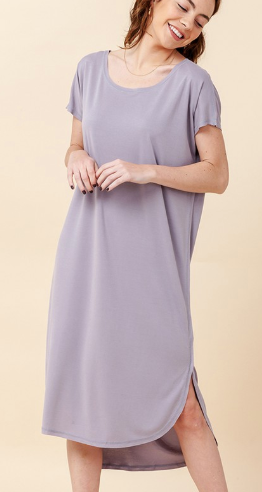 Love You Forever Dress - Grey Lilac