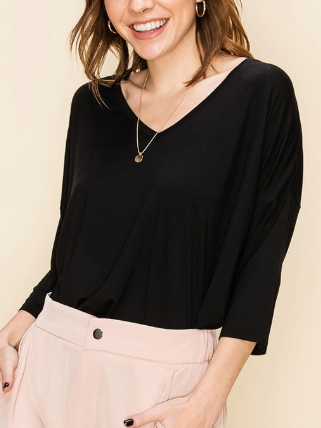 Pleasantly Surprised Top - Black