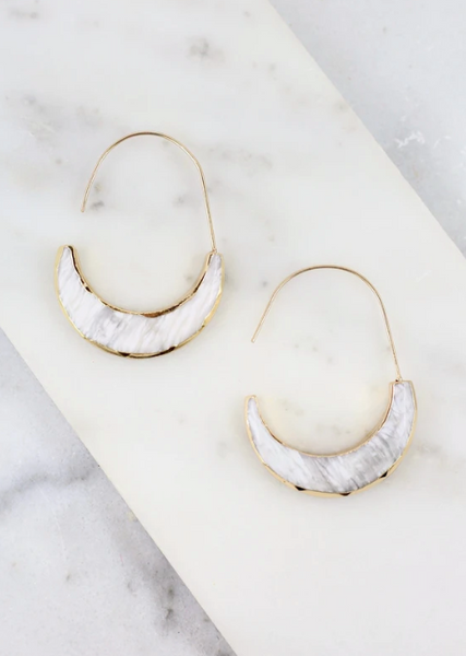 Koogan Earrings - White