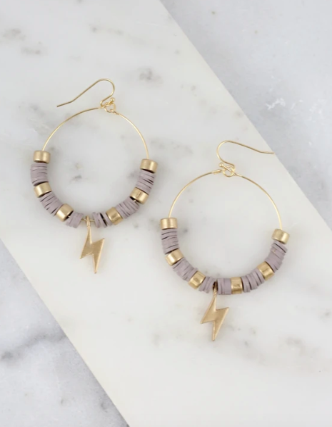 Strike Out Earrings - Taupe