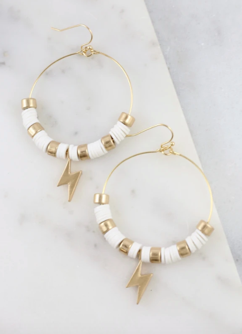 Strike Out Earrings - White