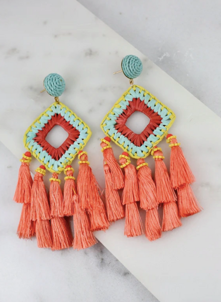 Mobley Earrings - Coral