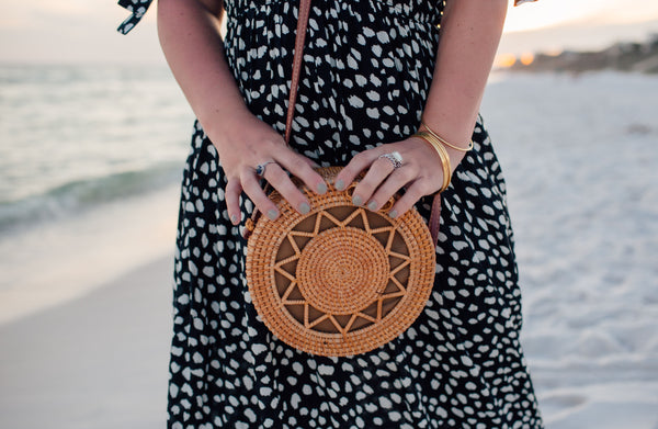 Sunburst Round Crossbody