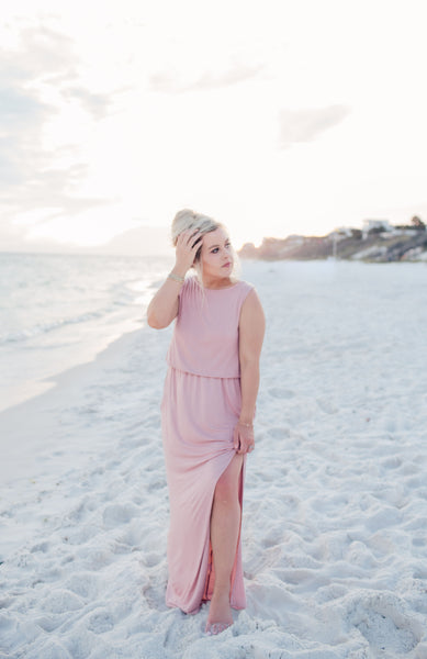 On The Clock Maxi Dress - Blush