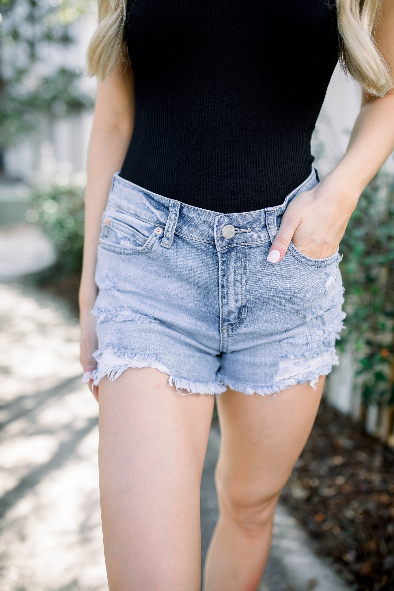 Ginger Light Wash Shorts
