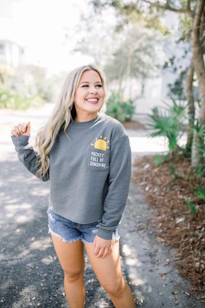 Pocket Full Of Sunshine Cropped Sweatshirt