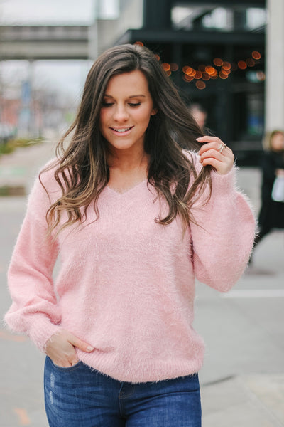 Be My Valentine Sweater - Pink - Bates Boutique